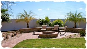 Appian Combo Walkway & Sitting Area with Stone Firepit 300x168