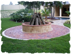 Firepit, Bella Brick, Travertine, Orlando, Central Florida, Walkways, Patios, Natural Stone