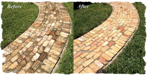 Before and After - Brick Walkway