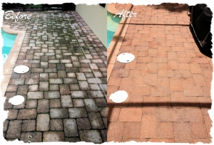 Pool Deck Pavers Before-After