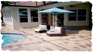 Walnut 6 x 12 Travertine Deck